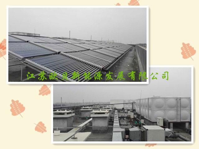 扬州乾照光电30吨员工洗浴热水工程竣工