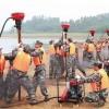 防汛打桩机厂家防洪打桩机防汛砸桩机价格图片直销